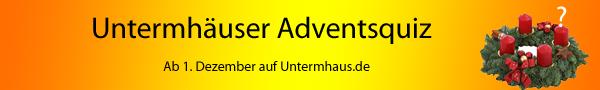 Adventsquiz in Untermhaus.de